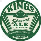 """KINGS SPECIAL ALE 11.75"""" ROUND METAL SIGN"""