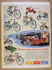 1954 AMF Roadmaster Bikes Bicycles Trikes BMC Toy Tractor Car vintage print Ad