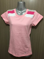 BNWT Girls Size 12 Ozemocean Soft Stretch Pink/Stripe Short Sleeve T Shirt Top