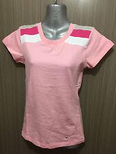 BNWT Girls Size 12 Ozemocean Soft Stretch Pink/Stripe Short Sleeve T Shirt Top
