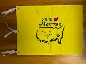 Dustin Johnson Signed 2020 Masters Pin Flag