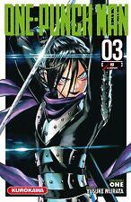 manga One Punch Man tome 3 Anime Yusuke MURATA Seinen Shonen VF Kurokawa ワンパンマン