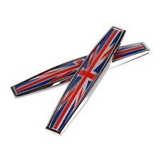 British Flag Union Jack Metal Sticker Emblem Adhesive 1 Pair 9, 8x1, 5cm