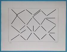 Geneviève CLAISSE Estampe Originale signée crayon Optique Op Art Cinétique