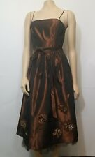 Laundry by Shelli Segal Women's $ 290 sz 6 Brown Evening Dress NWT