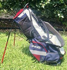 Ping Hoofer Carry Golf Bag (Rare) - Red / White / Blue