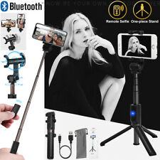 Extendable Bluetooth Remote Selfie Stick Tripod Monopod for iPhone 11 12 Samsung