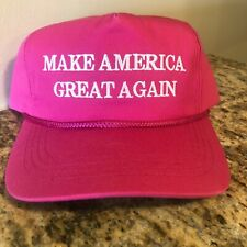 PRESIDENT DONALD TRUMP OFFICIAL CAMPAIGN PINK MAGA MAKE AMERICA GREAT AGAIN HAT