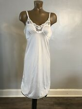 True Vintage Slip Unbranded Hollywood Glam Pin Up Mod Sissy White