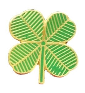 Ireland 4 Leaf Clover Lucky Charm Enamel Lapel Pin Badge P123
