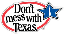 "Don't Mess with Texas Reduce Littering Car Bumper Window Sticker Decal 5""X4"""