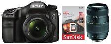 Sony alpha 68 + 18-55mm + Tamron 70-300 mm + 32GB ! ILCA-68 A68 + Zubehörpaket