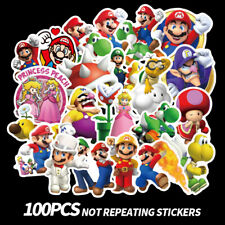 Removable Super Mario Bros Bedroom Kitchen Livingroom Wall Sticker Skateboard