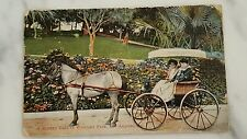 """Picture Postcard """"A Sunday Ride At Westlake Park Los Angeles Posted 1911"""