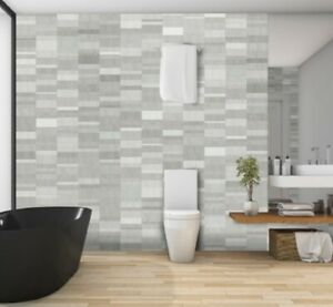 Bathroom Panels Nassau Silver Grey  250mm x 2.6m x 4pk