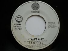 GENESIS - That's all /Takin' it all too hard - Rare PHILIPPINES 45 RPM / NM