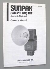 New listing Sunpak Auto Pro 120J Kit Instruction Manual original large folder