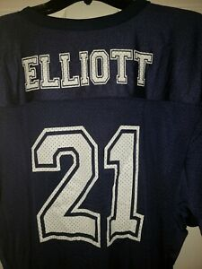 Dallas Cowboys Ezekiel Elliot #21 Navy Rawlings Jersey XXl NWT