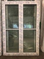 2-flügl.Kunststofffenster PVC STULP 1320 x 1935mm SOFORTVERSAND Lagerware