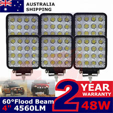 6x 48W LED WORK LIGHT BAR Boat Tractor Truck Trailer Driving Lamp suv Flood beam