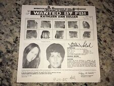 SLA-BLACK PANTHER PARTY KATHLEEN ANN SOLIAH FBI WANTED POSTER *PLS OFFER*
