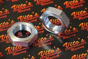 2 x Vito's Performance rear AXLE NUTS for Yamaha Banshee 350 Blaster 200