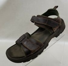 Rockport Mens Sandals Fisherman Ankle Strap Open Toe Brown Leather Shoes Size 12