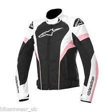 Alpinestars Stella ladies women Textile T-Gp Plus r Bike jacket Black/white/pink