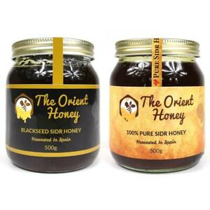 500g Black Seed Sidr + 500g Pure Sidr The Orient Honey Top Quality Raw Authentic