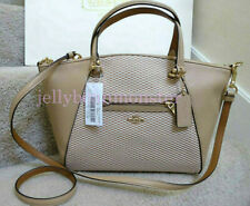 COACH 29848 LEGACY JACQUARD PRAIRIE LEATHER CROSSBODY BAG Beechwood Tan NEW