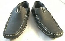 Brixton Mens Size 9 Black Leather Casual Comfort Driving Moccasins Loafer Shoes