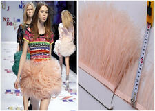 Peach Ostrich Feather Trims Fringes Sewn on Feather 1 Yard  (USA