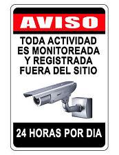 NO TRESPASSING Sign.Keep Criminals Away VIDEO SURVEILANCE SIGN..Aluminum spanish