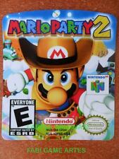 Mario Party 2 Cartridge Replacement Game Label Nintendo 64 Cartridges