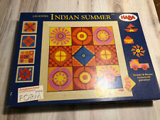 Haba Indian Summer Complete Magnetic Pieces Tile Arranging Game Create Patterns