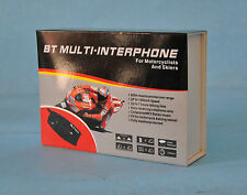 BT MULTI INTERFONO AURICOLARE BLUETOOTH RADIO MOTO SCI CASCO MP3 GPS 500MT SNOW