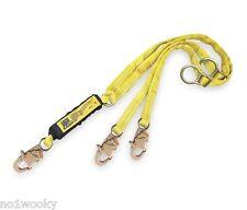 DBI-SALA 1241206  Lanyard, 2 Leg, Polyester,Shock-Absorbing Yellow 8800 LBS