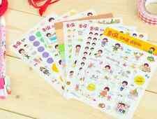 #10 I am so happy cute cartoon girl pvc stickers notebook diary deco 8 sheets