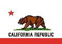 California CA RV NASCAR Toy Box Trailer Flag #R-007