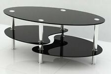 Less than 60cm Oval Contemporary Coffee Tables with Shelves
