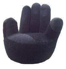 Brand New Adult size Swivel Hand Chair, Finger sofa 1 Seat Couch lounge * Black