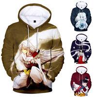 Men Women Hoodie Sweatshirt 3D Inuyasha Print Jacket Coat Pullover Tops