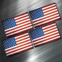 (4) FOUR American Flag Vinyl Decal Sticker For Car Laptop Skateboard NEW USA