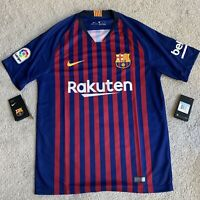NEW size MEDIUM M Nike FC Barcelona Home Jersey 894430-456 Soccer Messi Futbol