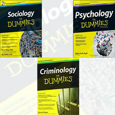 Psychology,Sociology,Criminology For Dummies 3 Books Collection Set Pack English