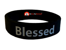BLESSED (Black w/ grey) Wristband Motivational Inspirational Ionic Negative Ions