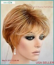 Synthetic Short Hair Wig for Women Color Pumpkin Glaze  CUTE STYLE 1186