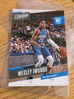 2017-18 Prestige~WESLEY IWUNDU #182 RC~Orlando Magic Rookie Card RC