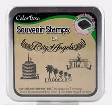 LA Souvenir Foam Mounted Rubber Stamp & Ink Pad Collection Colorbox NEW art