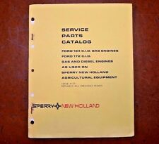 New Holland Service Parts Book for Ford 134 & 172 CID Gas & Diesel Engines